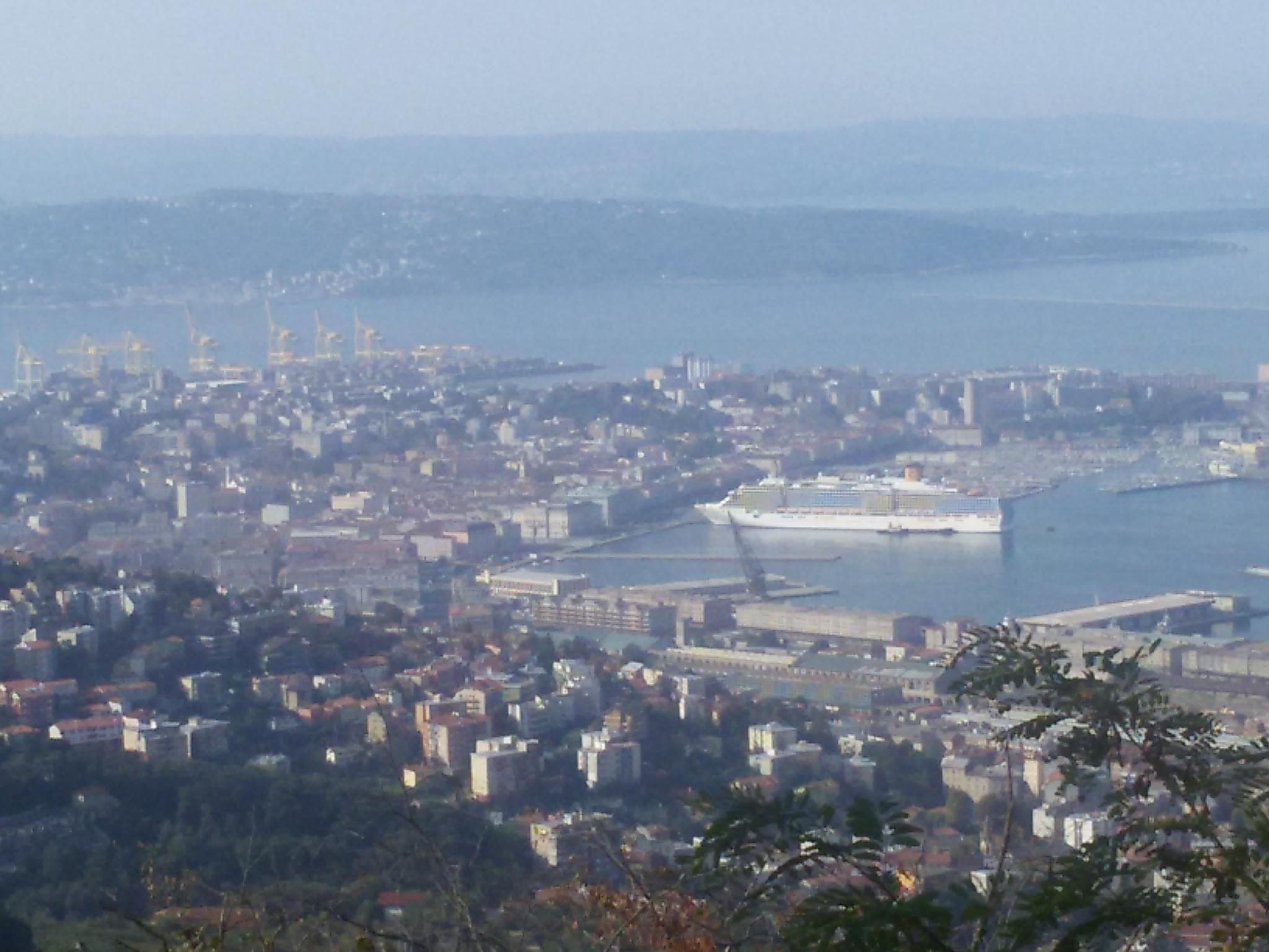Trieste dalla collina