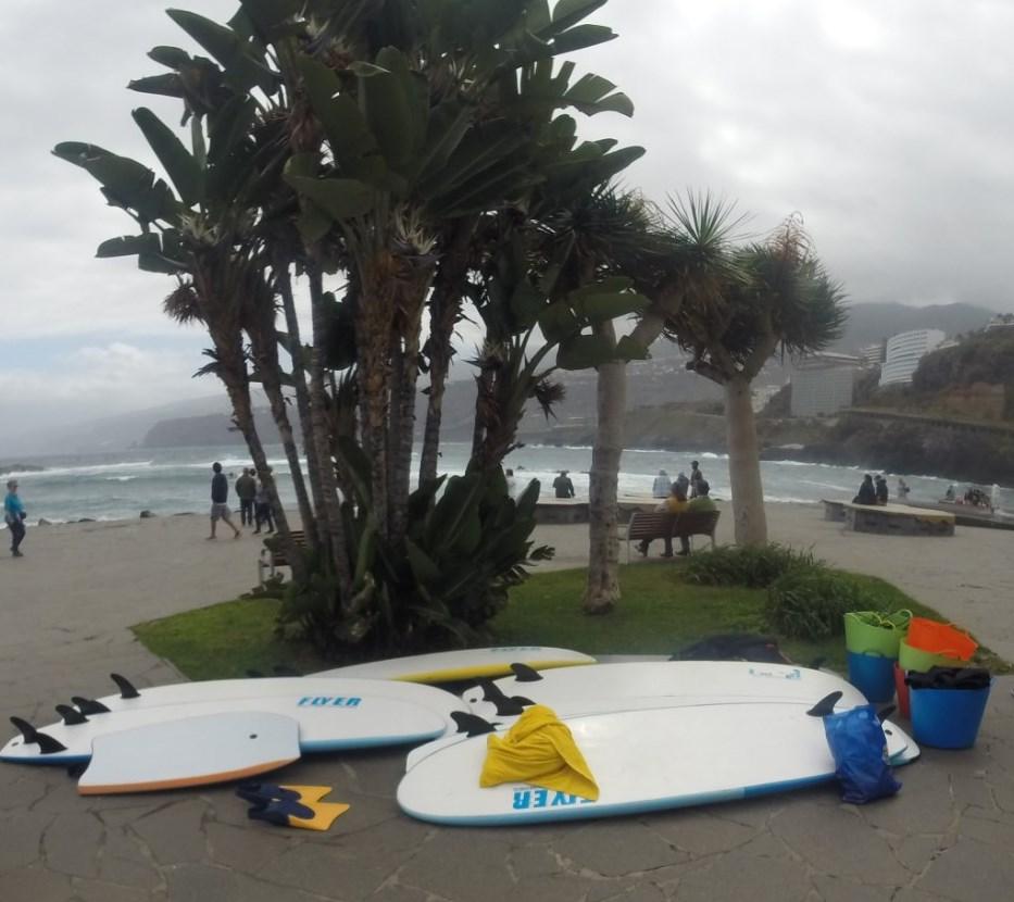 cielo grigio sulla spiaggia de Los Cristianos