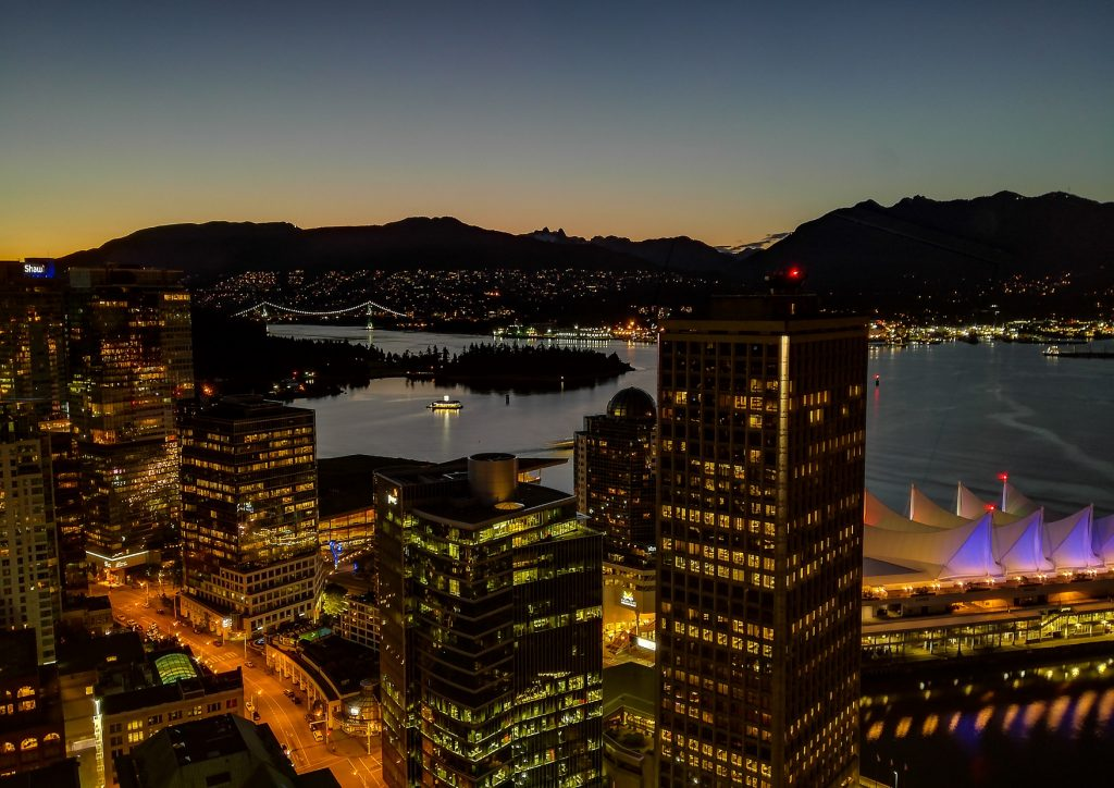Vancouver Lookout Skyline